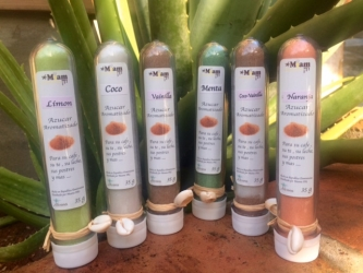 Azucares aromatizados en Tubos